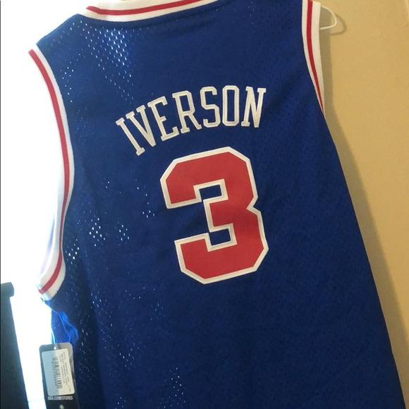 98001a32dd596 Allen Iverson Philadelphia 76ers Jersey NWT